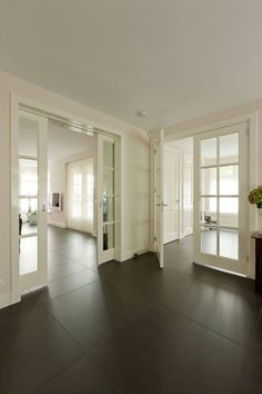 Pocket doors to dining room Sliding Door Design, Beautiful Home Designs, Industrial House, House Rooms, Decor Interior Design, My Dream Home, Sweet Home, New Homes, House Design