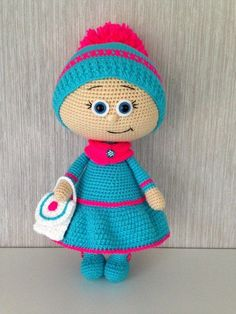 Вязаные идеи Crochet Doll Pattern, Crochet Dolls, Crochet Patterns, Crochet Hats, Amigurumi Toys, Amigurumi Patterns, Doll Patterns, Best Kids Toys, Crochet For Kids