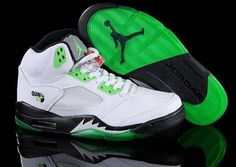 """Exclusive Air Jordan 5 """"Quai 54"""" White/Radiant Green Available at special prices."""
