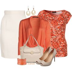 Coral & Creme, created by sassafrasgal on Polyvore