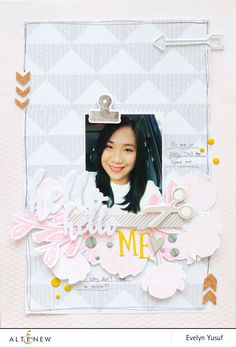 Personalize your scrapbook layout even more by adding your selfie photos. Evelyn Yusuff, one of our scrapbook maker will show you how it's done. Visit our blog to see the tutorial. www.altenew.com