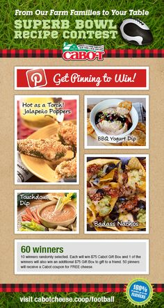 Pin to Win! Get in the game spirit & you can win! And it's easy to enter!