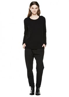 Say LS Tee - Black - T-Shirts & Tops - Shop Woman - Hope STHLM
