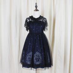 S/M/L Sweet Starry Night Angel Lolita Dress Set SP154047