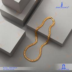 22k Plain Gold Chain (19.05 gms) - Plain Gold Jewellery for Men by Jewelegance (JG-2006-02796) #myjewelegance #chain #goldchain #mensjewellery #goldaccessories
