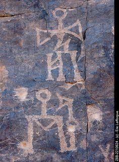 Rock art inscriptions. Najran Abar Hima site.