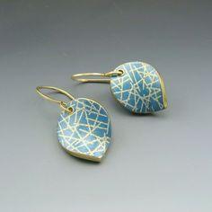 Simple modern leaf shaped earrings in soft by StonehouseStudio, $35.00