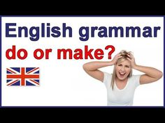 "When to use ""do"" and ""make"" 