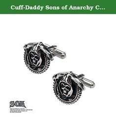 Cuff-Daddy Sons of Anarchy Cufflinks. The TV series Sons of Anarchy features the exploits of an outlaw Northern California Motorcycle Gang. The gang is known as Sons of Anarchy Motorcycle Club, Redwood Original (SAMCRO), and the grim reaper is their logo. Show you are a fan of the gang with these detailed reaper logo cuff links.