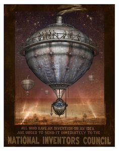 Steampunk Vintage Ad Series  Lead Balloon  Art by indigolights, $20.00--via The Steampunk Bride