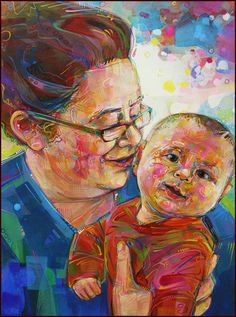 Gwenn Seemel - portrait of a mother and child
