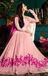 Malaika Arora Pink Abaya Style Anarkali Suit