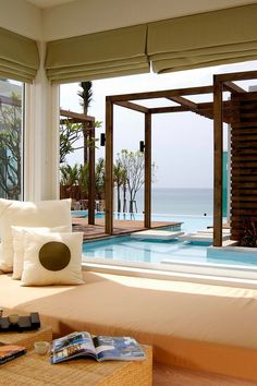 Embrace the ocean breeze in a romantic bungalow by the sea with your own private plunge pool. Aleenta Resort and Spa (Phuket, Thailand) - Jetsetter Beautiful Homes, Beautiful Places, Phuket Resorts, Spa Interior, Spa Design, Indoor Outdoor Living, Pool Houses, Phuket Thailand, Resort Spa