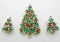 Pakula Christmas Tree Set - Garden Party Collection Vintage Jewelry