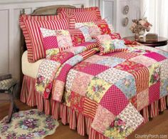Scenery+Quilts   quilt savannah quilt create a country bedroom with savannah quilt ...