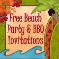 Free Printable Beach Party, Luau and BBQ Invitations Templates