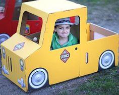 Coche de cartón para montar, juguetes de cartón resistentes