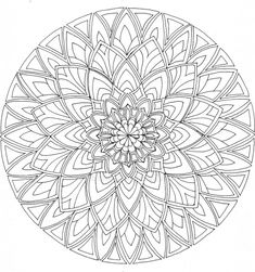 "Approx. 7"" in diameter. Black ink on white cartridge paper. I've been looking at mandalas and reading about them, and thought it was time to have a go. So, one and a half hours or so later, a ..."