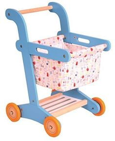 Njoykids Shopping Cart Pretend Play Wooden Toy Set ** Read more reviews of the product by visiting the link on the image.