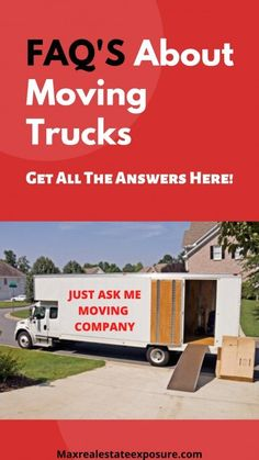 See The Most Frequently Asked Questions About Moving Trucks and Get All The Answers at Maximum Real Estate Exposure. Real Estate Articles, Real Estate Information, Real Estate Tips, Moving Truck Rental, Moving Trucks, Cabin Furniture, Western Furniture, Furniture Design, Log Home Interiors