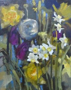 Spring Flowers . oil painting  Felicity House