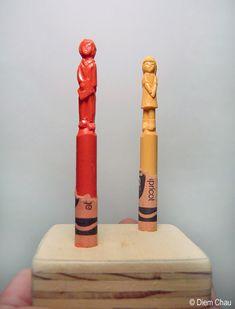 Diem Chau Crayon Sculptures