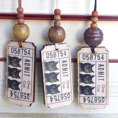collier pendentif chat noir bijou en bois style victorien vintage