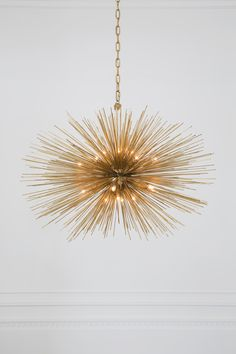 KELLY WEARSTLER | STRADA OVAL PENDANT. A sculptural piece with radiating quills
