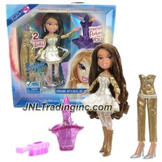 MGA Entertainment Bratz Passion For Fashion Fragrance Series 10 Inch Doll Set - YASMIN with 2 Complete Outfits, Purple Hairbrush & Fragrance For You