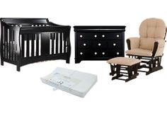 Shop for a Oberon 4 Pc Black Nursery at Rooms To Go Kids. Find  that will look great in your home and complement the rest of your furniture. #iSofa #roomstogo