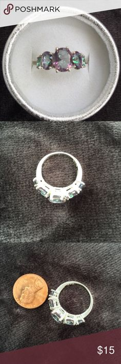 Ring emerald cut rhinestones ring 💍 size 7 ***BUY 1 Get 2 FREE (equal or less value) - Price is firm except bundle - Bundle: 5% off (2 items), 10% off (3 items), 15% off (4 or more items) ***Please follow me for new listings. ***FREE SHIPPING.  Keyword to what I sell: sterling silver silver plated jewelry white and yellow gold filled earrings ring bracelet bangles necklace anklet brecelet baby small medium large huge hoop earrings. Stud earrings Fidget spinners  Dog cat toys cosmetics…