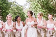 Adorable @lulakate bridesmaid dresses. Southern Destination Wedding at The Shoals Club at Bald Head Island - Southern Bride & Groom