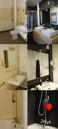 Avant apr s transformer un wc et un cabinet de - Relooking salle de bain avant apres ...