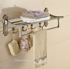 stainless steel foldable bathroom towel rack with hooks movable towel shelf