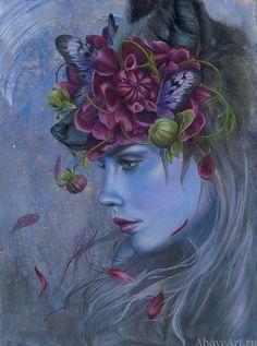 Kari-Lise Alexander is an artist painter working out of Seattle, Washington. Kari-Lise creates paintings that captivate the. Portraits, Portrait Art, Pop Culture Art, Paul Gauguin, Pop Surrealism, Arte Floral, Fairy Art, Woman Painting, Photomontage