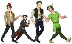 Tim Drake, Damian Wayne, Jason Todd, and Dick Grayson