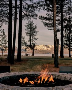 Fireside + Lakeside + Mountainside = Perfection. Who are you bringing with you? #EdgewoodTahoe