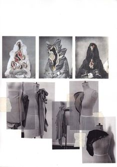 Fashion Sketchbook - fashion design creative process; draping development; fashion portfolio // Valeska Collado
