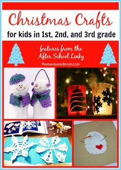 Christmas crafts for first, second, and third graders (from the After School Linky!)