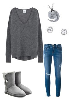 """""""Cold Weather Day Date"""" by amy-hill8815 on Polyvore featuring Frame Denim and UGG Australia"""