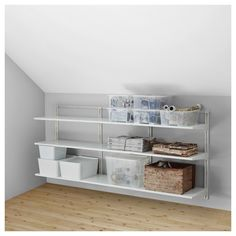 IKEA - ALGOT, Wall upright/shelves, The parts in the ALGOT series can be combined in many different ways and easily adapted to your needs and space. Ikea Closet, Shelves, Home Furnishings, Closet System, Clothes Storage Systems, Ikea Algot, Ikea, Ikea Us, Shelving