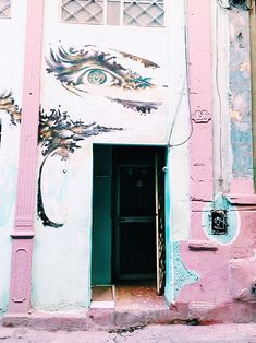 interesting mural on building in cuba. / sfgirlbybay