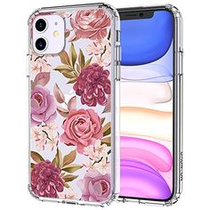 MOSNOVO Blossom Flower Floral Pattern Designed for iPhone 11 Case,Clear Case with Design Girls Women,TPU Bumper with Protective Hard Case Cover