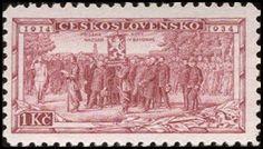 Znaczek: Consecration of Legion Colors at Kiev (Czechosłowacja) (Legionnaires) Mi:CS 323,Sn:CS 196,Yt:CS 286,AFA:CS 187,POF:CS 277