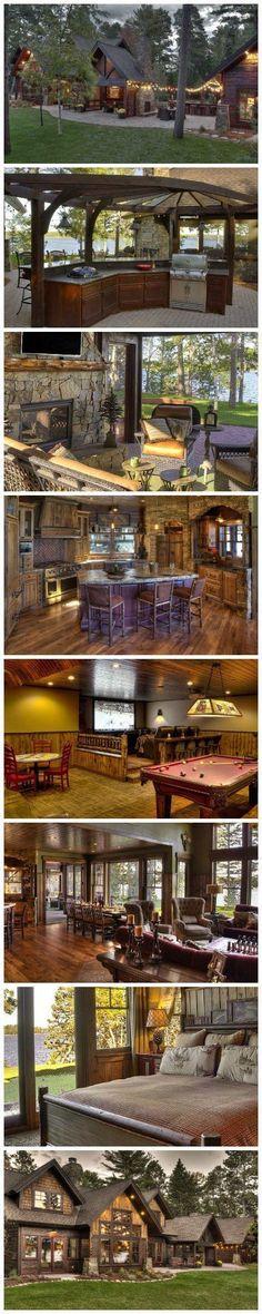 Rustic Cabin Lodge living