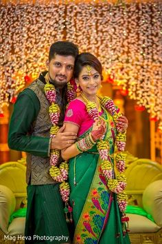 A stunning Indian wedding in Klang, Malaysia, captured by Mag Heva Photography! Indian Wedding Poses, Outdoor Indian Wedding, Indian Fusion Wedding, Indian Wedding Couple, Indian Wedding Photography Poses, Indian Bride And Groom, Traditional Indian Wedding, Flower Garland Wedding, Wedding Garlands