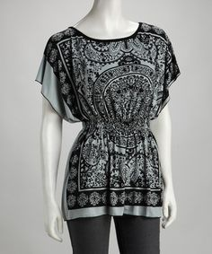 Take a look at this New Slate Medallion Tunic by Women's Blow-Out Sale on #zulily today!