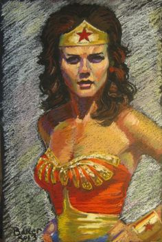 Wonder Woman Lynda Carter Comic Art