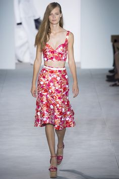 Michael Kors Collection Spring 2017 - Pink Floral Print