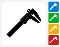 Wrench Icon Flat Graphic Design vector art illustration